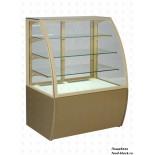 Кондитерская холодильная витрина UNIS Cool EDEN 1000 золотая