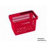 Покупательская пластиковая корзина VKF Renzel GmbH 20л, 1 ручка, красная (RAL 3020)