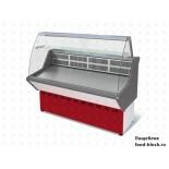 Холодильная витрина Марихолодмаш ВХС-1,5 Нова (с гнутым стеклом,нержавейка)