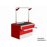 Холодильный стол для мяса EQTA ПДв 1,5 RAL 3020 охлаждаемый запасник