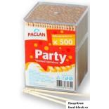 Paclan зубочистки в пластиковом диспенсере, 500 шт