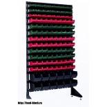 Стеллаж с пластиковыми ящиками 1801-3/9/2CH2